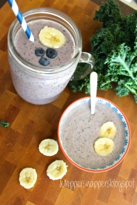 Blueberry-Banana & Greens Smoothie